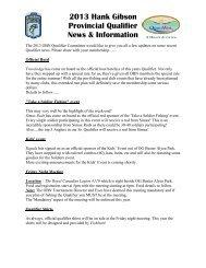 2013 Hank Gibson Provincial Qualifier News & Information