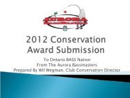Aurora Bassmasters - Ontario BASS Federation Nation