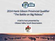 Ottawa Valley South Bassmasters - Ontario BASS Federation Nation