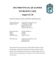 2012 PROVINCIAL QUALIFIER STURGEON LAKE August 25, 26