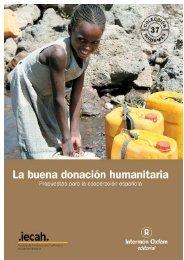 La buena donación humanitaria