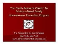 An Evidence-Based Family Homelessness Prevention Program