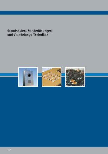 Standsäulen, Sonderlösungen und Veredelungs ... - Telecom Behnke