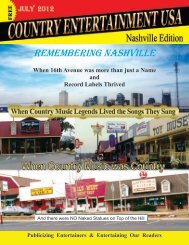 July Issue 2012 - Country Entertainment USA