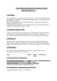"Austellungsordnung des Landesverband ""Bayern Süd e - LVBS 32"