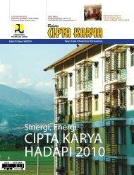 CIPTA KARYA HADAPI 2010 - Ditjen Cipta Karya