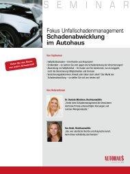 S E M I N A R - Autohaus