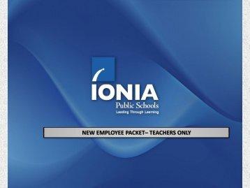 New Teacher Packet - Ionia Public Schools