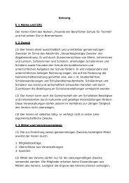 Mustersatzung für Schulvereine - Vbs-bremerhaven.de