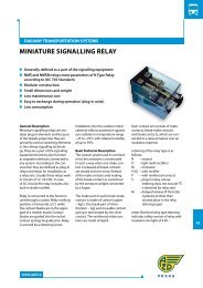 MINIATuRE SIgNALLINg RELAY