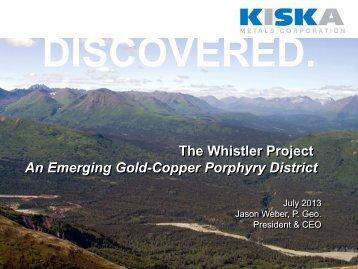 July 2013 Click to enlarge - Kiska Metals Corporation