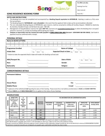 Accommodation booking form we would prefer type written download accommodation booking form pronofoot35fo Choice Image