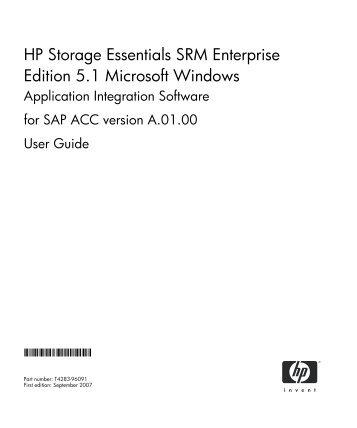 hp storage essentials srm enterprise edition 6 0 application rh yumpu com Essential Oil Storage Ideas Dollar Tree Essentials Storage Box