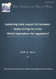 Explaining state support to European banks during the crisis - Fondo ...