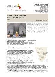 Grand périple dravidien - Arts et Vie