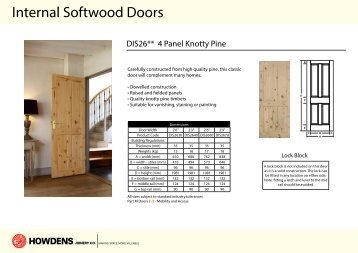 Internal Softwood Doors - Howdens Joinery & External Hardwood Doors - Howdens Joinery