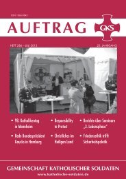 Auftrag_288.pdf - Gemeinschaft Katholischer Soldaten