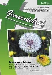 Juni 2011 Monatsspruch Juni: - posaunenchor-oberpfannenstiel.de
