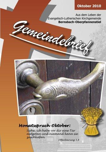 Oktober 2010 Monatsspruch Oktober: - posaunenchor ...