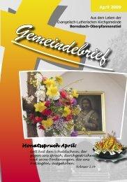April 2009 Monatsspruch April: - posaunenchor-oberpfannenstiel.de