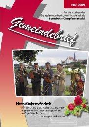 Mai 2009 Monatsspruch Mai: - posaunenchor-oberpfannenstiel.de