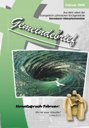 Februar 2009 Monatsspruch Februar: - posaunenchor ...