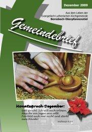 Dezember 2009 Monatsspruch Dezember: - posaunenchor ...