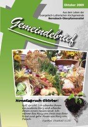 Oktober 2009 Monatsspruch Oktober: - posaunenchor ...