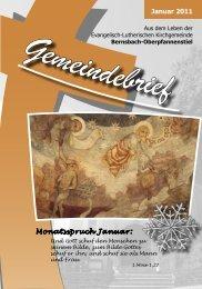 Januar 2011 Monatsspruch Januar: - posaunenchor ...