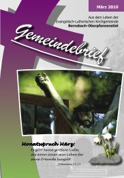 März 2010 Monatsspruch März: - posaunenchor-oberpfannenstiel.de