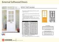 External Softwood Doors