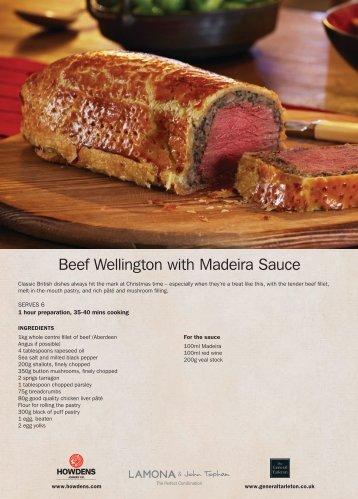 Beef Wellington with Madeira Sauce