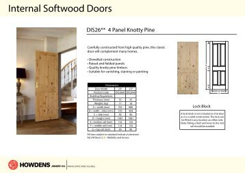 Internal Softwood Doors - Howdens Joinery  sc 1 st  Yumpu : softwood doors - pezcame.com