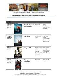 FILMPROGRAMM (Stand 2.4.2013 Änderungen vorbehalten)