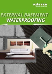ExTERNAL BASEMENT WATERPROOFING - Koster