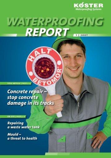 WATERPROOFING REPORT