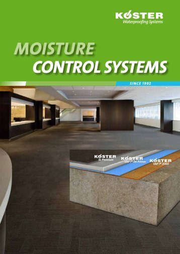 mOisture cONtrOl systems - KOSTER American Corporation