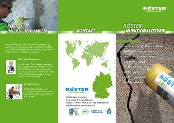 KOESTER Produktflyer Injektionsharze - Köster Bauchemie AG