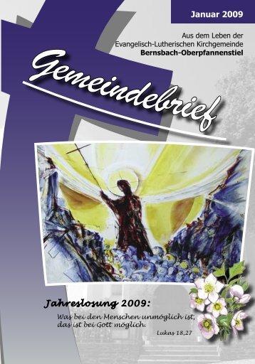 Januar 2009 Jahreslosung 2009: - posaunenchor-oberpfannenstiel.de