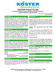 KOSTER Polysil TG 500 - KOSTER American Corporation