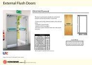 External Flush Doors