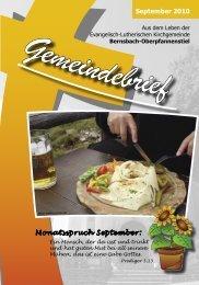 September 2010 Monatsspruch September: - posaunenchor ...