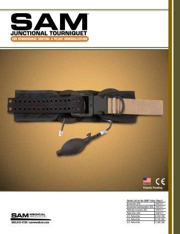 SAM Junctional Tourniquet Brochure - SAM Medical Products
