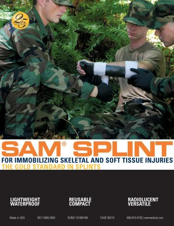 SAM Splint Brochure-Military - SAM Medical Products