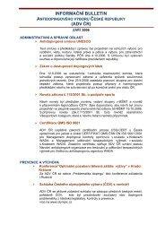 INFORMAČNÍ BULETIN - Antidopingový výbor ČR