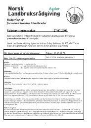 MEDLEMSBLAD NR 3______25 - Norsk Landbruksrådgiving Agder