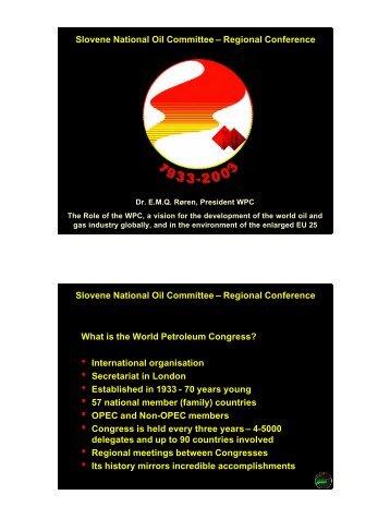 International organizations - World Petroleum Council