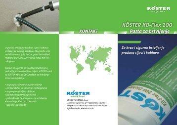 KÖSTER KB-Flex 200 - KÖSTER HRVATSKA doo