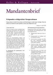 Kooperationen - Anwaltskanzlei-keller.de