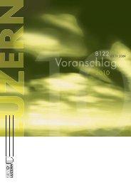 Voranschlag 2010 - Finanzen - Kanton Luzern